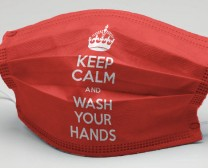 Keep calm and wash your hands maszk